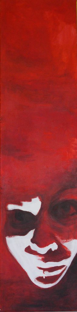 'So Why The Long Face', acryl op doek/acrylic on canvas, 45x130 cm. SOLD