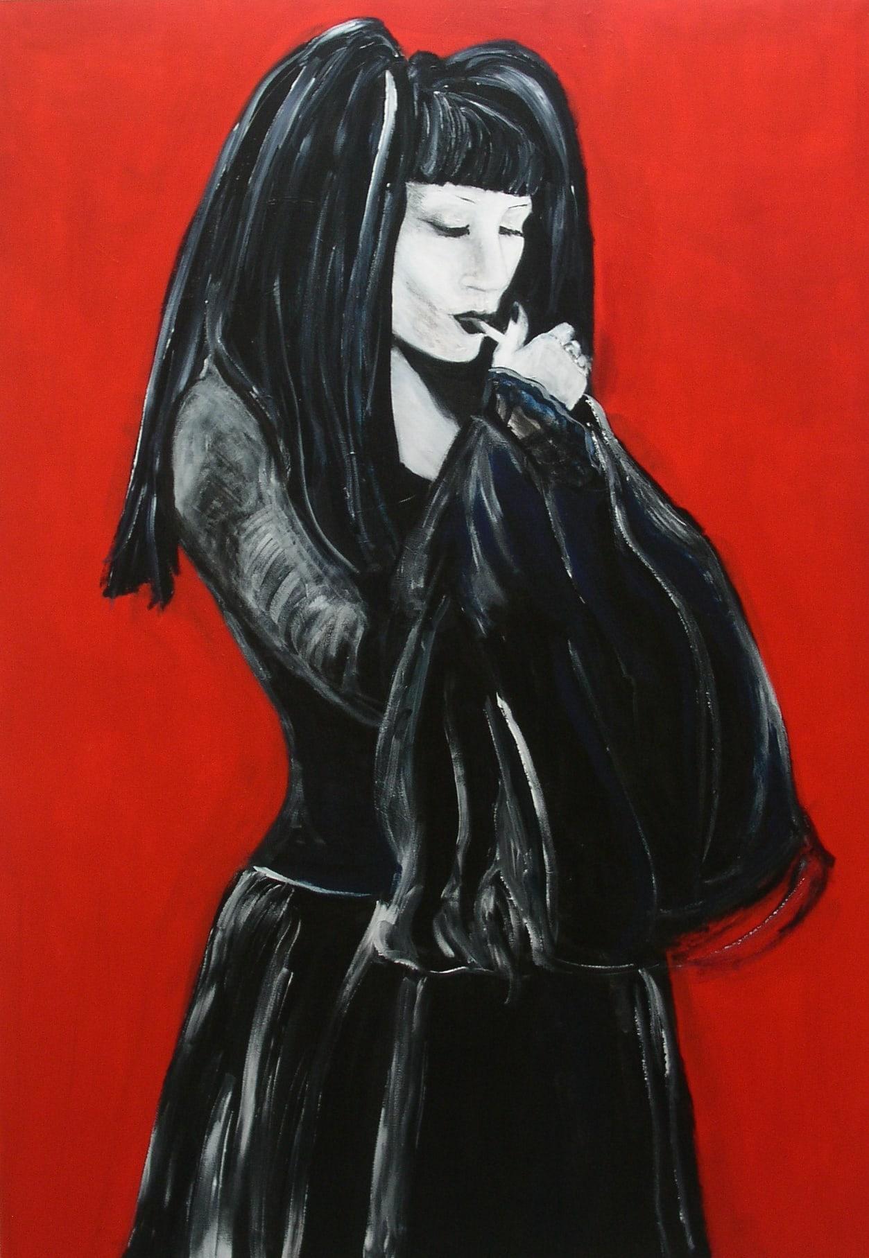 'Kiki cig', acryl op doek/acrylic on canvas, 100x140 cm.