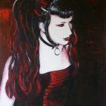 'Red', acryl op doek/acrylic on canvas, 70x100cm.